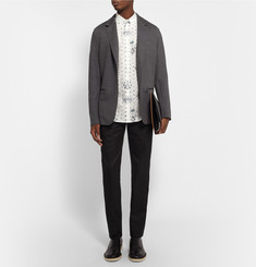 Alexander McQueen Slim-Fit Button-Down Collar Printed Cotton Shirt