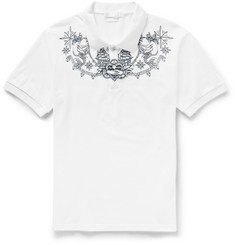 Alexander McQueen - Slim-Fit Tattoo-Embroidered Cotton-Piqué Polo Shirt