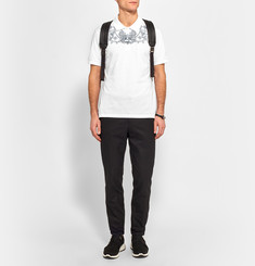 Alexander McQueen Slim-Fit Tattoo-Embroidered Cotton-Piqué Polo Shirt
