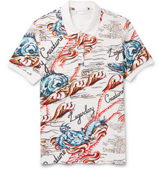 Alexander McQueen - Printed Cotton-Piqué Polo Shirt