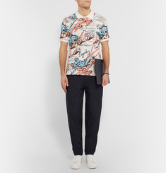 Alexander McQueen Printed Cotton-Piqué Polo Shirt