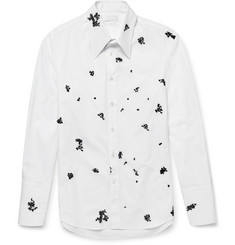 Alexander McQueen - Embroidered Cotton-Poplin Shirt