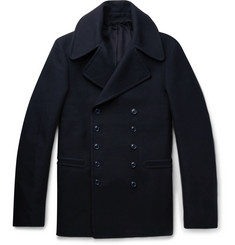 Alexander McQueen Slim-Fit Cotton Peacoat