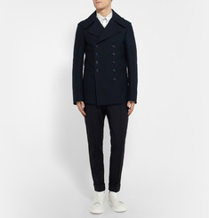 Alexander McQueen - Slim-Fit Cotton Peacoat