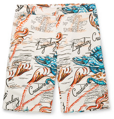 Alexander McQueen Printed Cotton Shorts