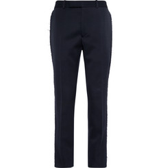 Alexander McQueen Raw-Edged Wool Trousers