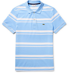 Lacoste Striped Cotton-Piqué Polo Shirt