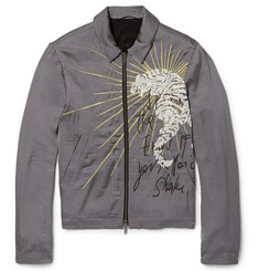 Haider Ackermann - Slim-Fit Embroidered Satin Bomber Jacket