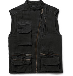 Haider Ackermann - Washed Cotton and Linen-Blend Gilet