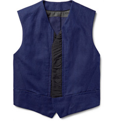 Haider Ackermann - Faille-Trimmed Slub Cotton and Linen-Blend Waistcoat