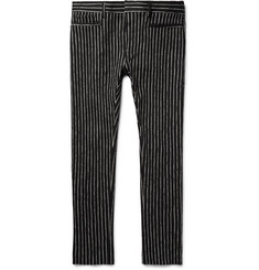 Haider Ackermann - Skinny-Fit Chalk-Stripe Cotton-Blend Trousers