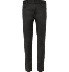 Haider Ackermann Skinny-Fit Gold-Trimmed Linen-Blend Trousers