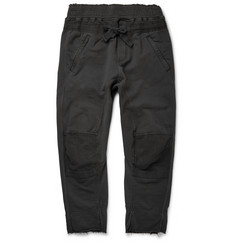 Haider Ackermann Slim-Fit Distressed Cotton Sweatpants