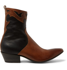 Haider Ackermann Leather Cowboy Boots