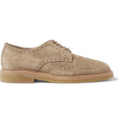 Burberry Shoes & Accessories Suede Wingtip Brogues
