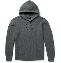 Beams Plus - Waffle-Knit Cotton-Blend Hoodie