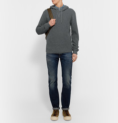 Beams Plus Waffle-Knit Cotton-Blend Hoodie