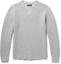 Beams Plus - Waffle-Knit Cotton-Blend Sweater