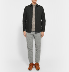 Beams Plus Slim-Fit Mélange Cotton-Blend Twill Trousers