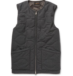 Beams Plus Quilted Flannel Gilet