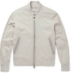 Berluti Washed-Leather Bomber Jacket