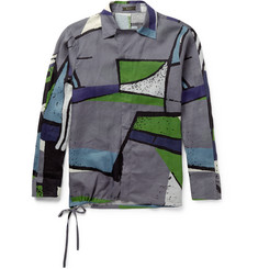 Berluti - Camp-Collar Printed Linen Shirt