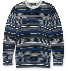 Berluti - Slim-Fit Striped Wool and Silk-Blend T-Shirt