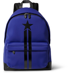 Givenchy Leather-Trimmed Neoprene Backpack