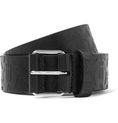 Givenchy - 3cm Black Embossed Leather Belt