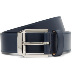 Givenchy 4cm Navy Leather Belt