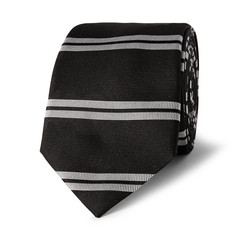 Givenchy 6cm Striped Silk-Faille Tie