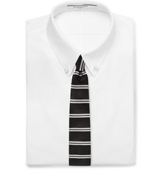 Givenchy Striped Silk-Faille Tie