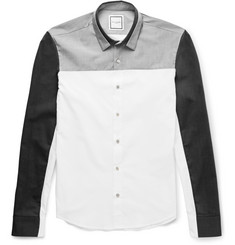 Wooyoungmi - Slim-Fit Panelled Cotton Shirt