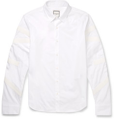 Wooyoungmi - Slim-Fit Grosgrain-Trimmed Cotton-Poplin Shirt