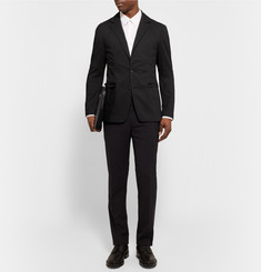 Wooyoungmi Black Unstructured Cotton-Blend Blazer
