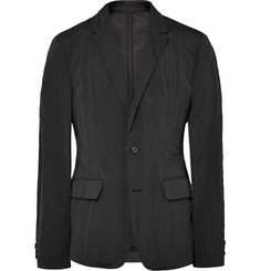 Wooyoungmi Black Slim-Fit Textured-Shell Blazer
