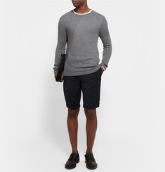 Wooyoungmi Slim-Fit Textured Wool-Blend Shorts