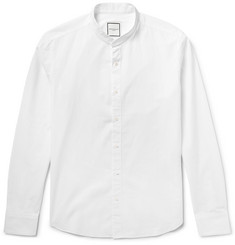 Wooyoungmi - Slim-Fit Grandad-Collar Cotton-Seersucker Shirt