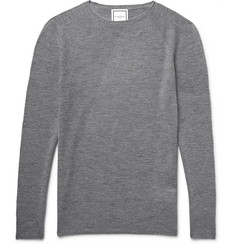 Wooyoungmi Slim-Fit Panelled Wool and Silk-Blend Sweater