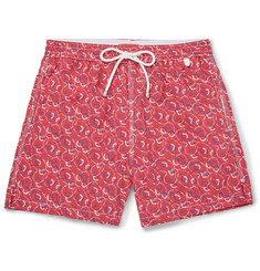 Isaia - Lifesaver-Print Mid-Length Swim Shorts