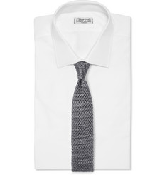 Isaia - Knitted Silk and Linen-Blend Tie