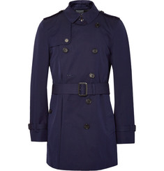 Burberry London Kensington Mid-Length Waterproof Cotton-Gabardine Trench Coat