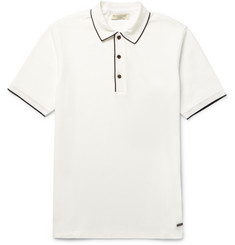 Burberry London Slim-Fit Contrast-Tipped Cotton-Piqué Polo Shirt