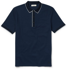 Burberry London Slim-Fit Cotton-Piqué Polo Shirt