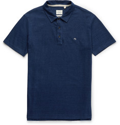 Rag & bone - Indigo-Dyed Cotton Polo Shirt