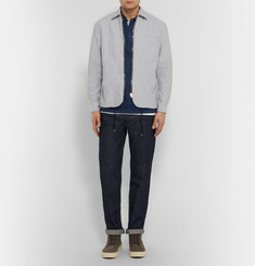 Rag & bone Indigo-Dyed Cotton Polo Shirt