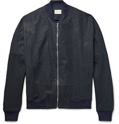 Simon Miller - M509 Covey Indigo-Dyed Linen and Cotton-Blend Bomber Jacket