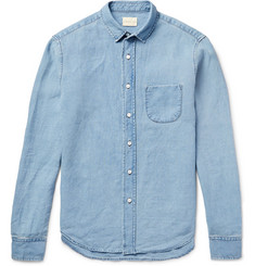 Simon Miller M100 Slim-Fit Linen-Chambray Shirt