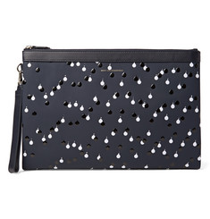 WANT Les Essentiels de la Vie Barajas A4 Embellished Coated Leather Document Holder