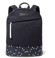 WANT Les Essentiels de la Vie Kastrup Leather-Trimmed Organic Cotton-Canvas Backpack